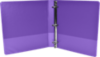 "1 1/2"" Earth Friendly View Binders Purple"