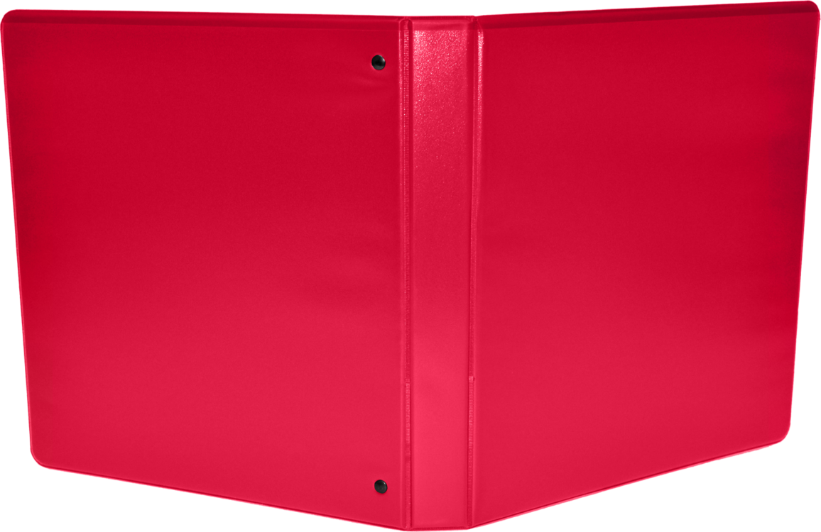 "1 1/2"" Earth Friendly View Binders Red"