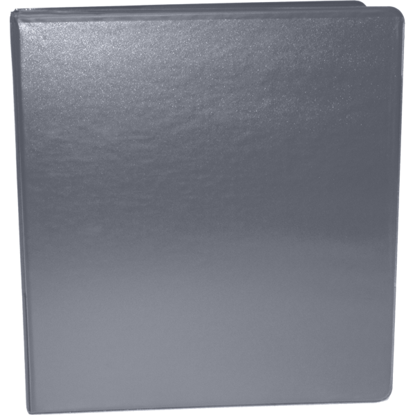 "1 1/2"" Earth Friendly View Binders Gray"