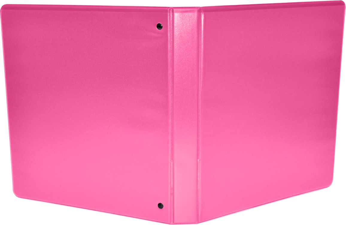 "2"" Earth Friendly View Binders Hot Pink"