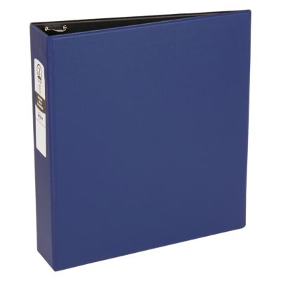"2"" Economy Non-View Binder Poly Binder w/ Round Rings Blue"