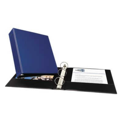"""2"""" Economy Non-View Binder Poly Binder w/ Round Rings Blue"""