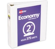"2"" Economy View Poly Binder w/ Round Rings"