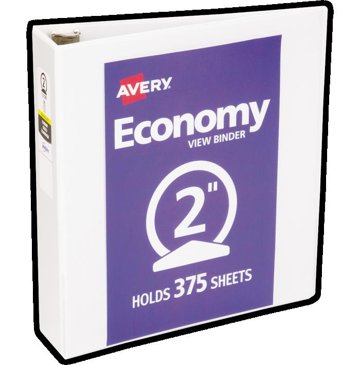 "2"" Economy View Poly Binder w/ Round Rings White"