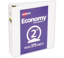 """2"""" Economy View Poly Binder w/ Round Rings"""