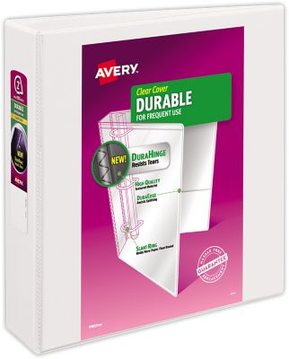 "2"" Durable View Poly Binder w/ Slant Rings White"