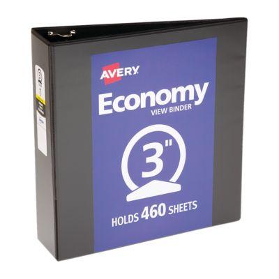 "3"" Economy View Poly Binder w/ Round Rings Black"