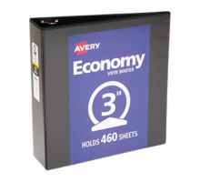 """3"""" Economy View Poly Binder w/ Round Rings"""