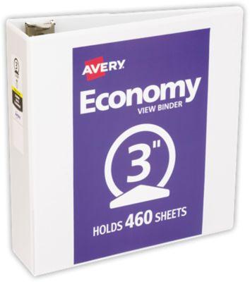 "3"" Economy View Poly Binder w/ Round Rings White"