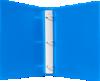 "1"" Plastic Three Ring Binder w/ Plastic Tuffy Rings Blue"