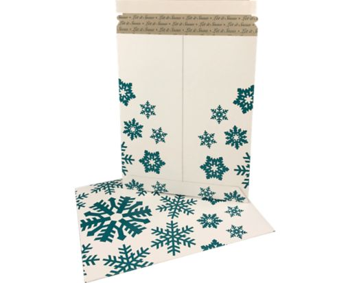 9 3/4 x 12 1/4 Paperboard Mailers Snowflakes