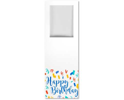 6 1/2 x 2 1/4 Photo Booth Photo Holder White Gloss