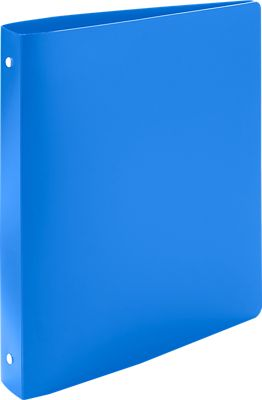 "1"" Plastic Three Ring Binder w/ Plastic Tuffy Rings Blue"