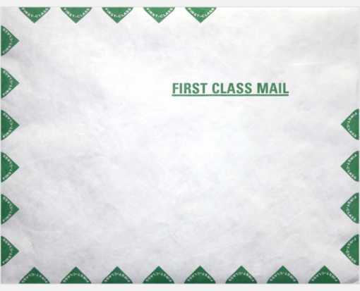 10 x 15 Open End Envelopes 14lb. Tyvek First Class