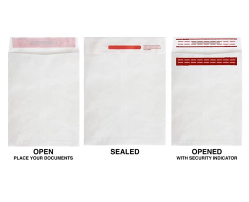 9 x 12 Open End Envelopes 14lb. Tyvek - Tamper Evident