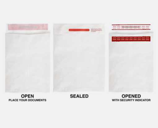 10 x 13 Open End Envelopes 14lb. Tyvek - Tamper Evident
