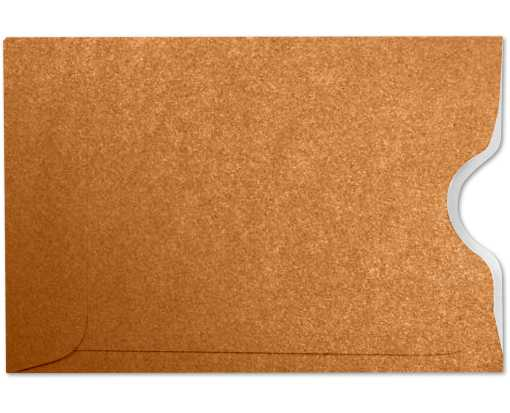 Credit Card Sleeve (2 1/4 x 3 1/2) Copper w/White Inside