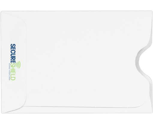 RFID Blocking Credit Card Sleeve (2 3/8 x 3 1/2) 32lb. White - SecureShield