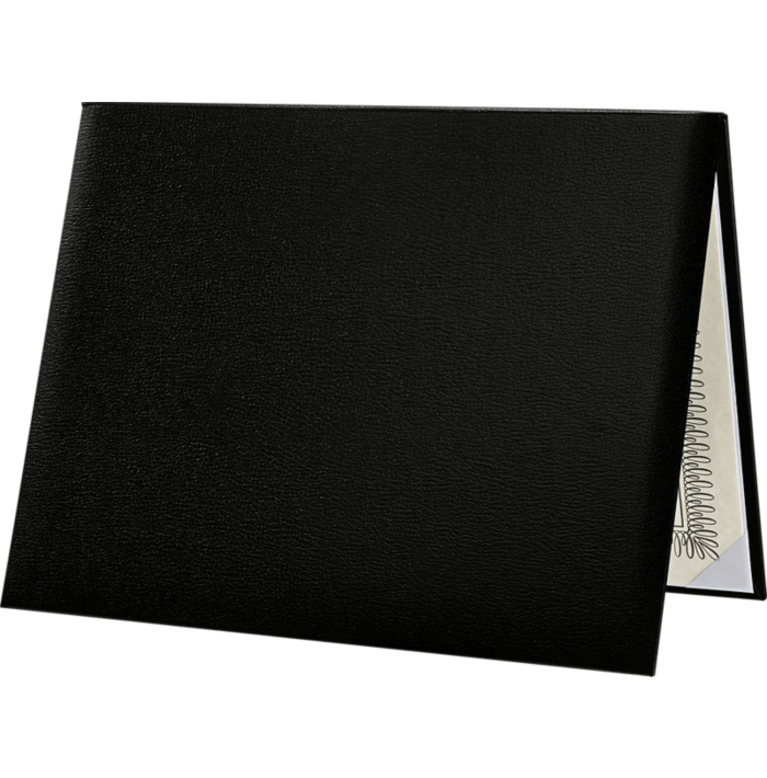 8 1/2 x 11 Diploma Cover - Padded Black