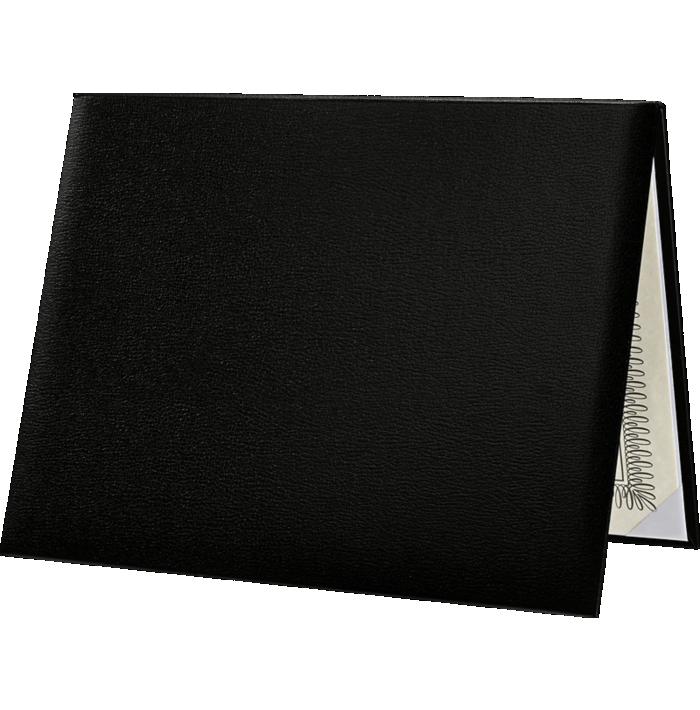 8 1/2 x 11 Diploma Cover - Padded Black
