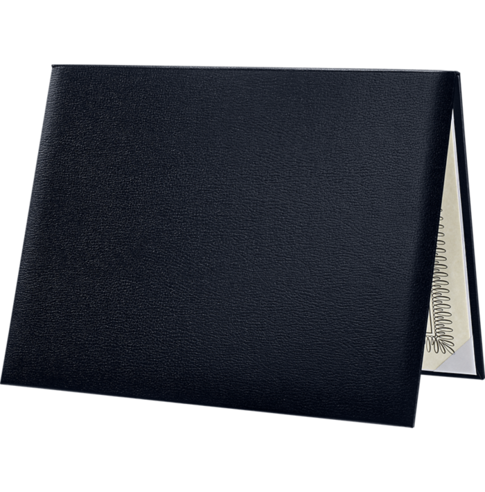 8 1/2 x 11 Diploma Cover - Padded Navy