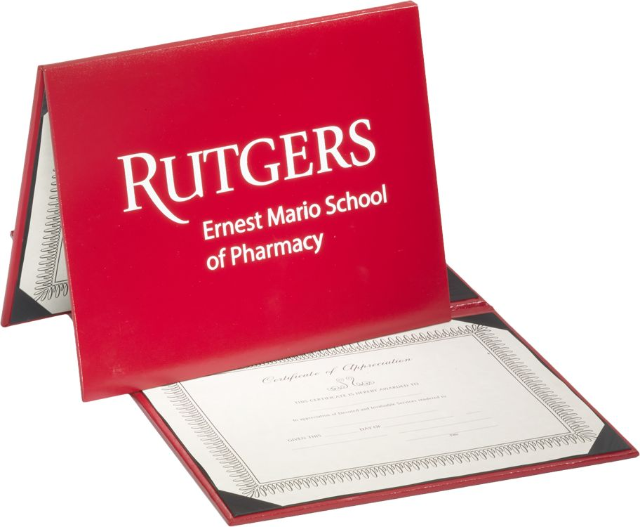 "Padded Diploma Cover - 8"" x 10"" Size w/ Landscape Orientation"