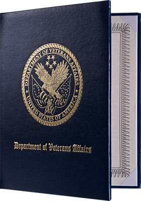 """Padded Diploma Cover - 8"""" x 10"""" Size w/ Portrait Orientation"""