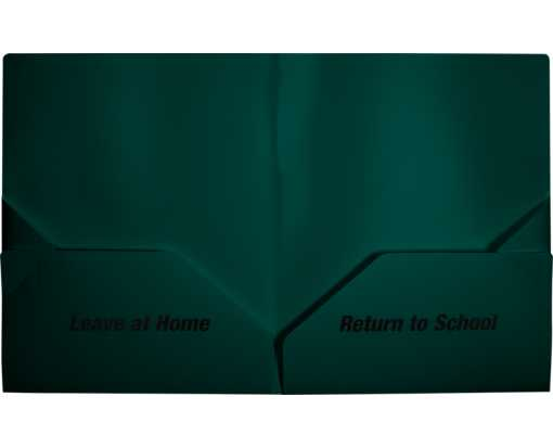 9 1/2 x 11 3/4 Poly Folder - Leave at Home, Return to School Forest