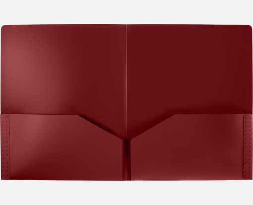 9 1/2 x 11 3/4 Poly Folder Maroon