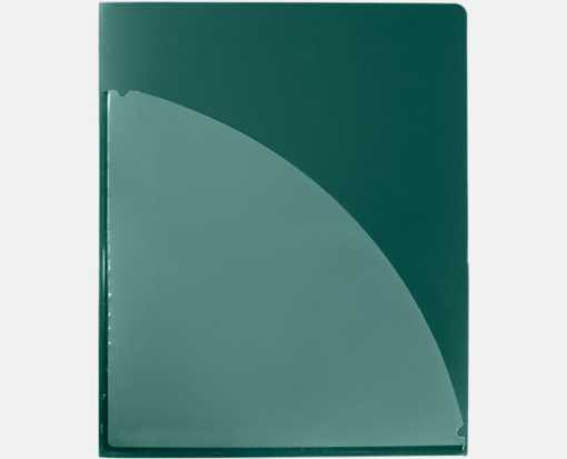 9 1/2 x 11 3/4 Poly Folder with clear front pocket Forest