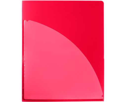 9 1/2 x 11 3/4 Poly Folder with clear front pocket Red