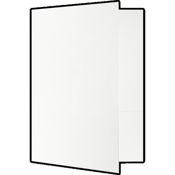 9 x 12 Presentation Folders - Standard Two Pocket White Linen