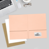 9 x 12 Presentation Folders Blush