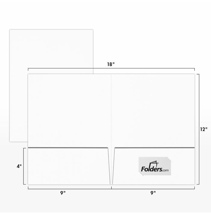 9 x 12 Presentation Folders 130lb. White