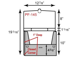 "Plastic Folio - Tote w/ Handle & 1"" Capacity (12 3/4"" x 10"")"