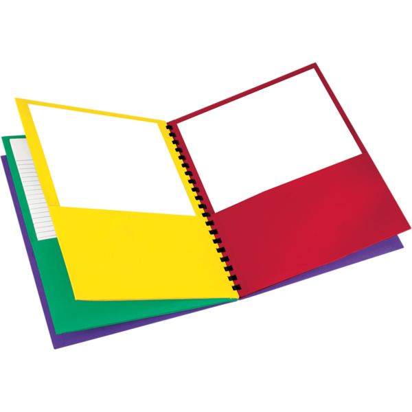 Oxford® 8 Pocket Folders Assorted