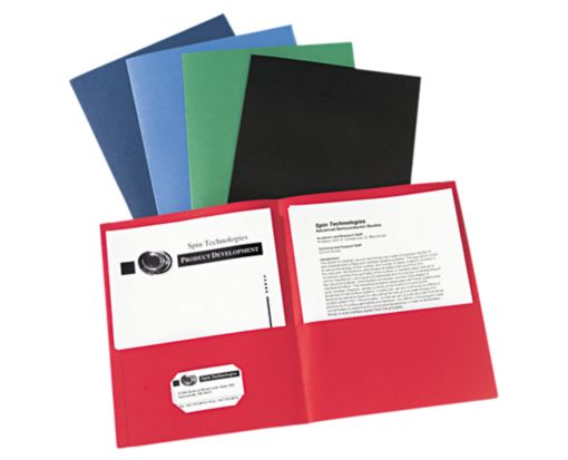 9 x 12 Presentation Folders - Assorted Pack of 25 Assorted