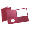 9 x 12 Presentation Folders - Pack of 25 Burgundy Leatherette