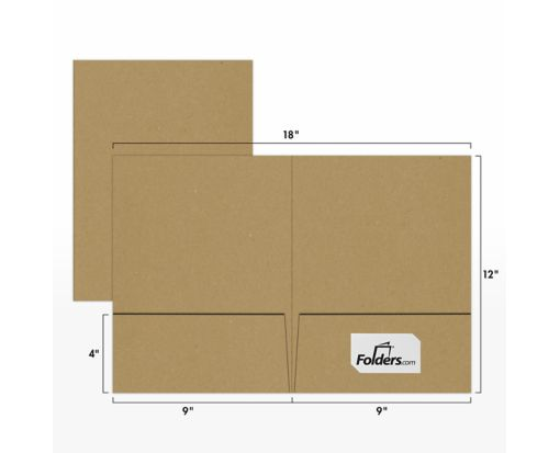 9 x 12 Presentation Folders 18pt. Grocery Bag