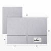 9 x 12 Presentation Folders Silver Metallic