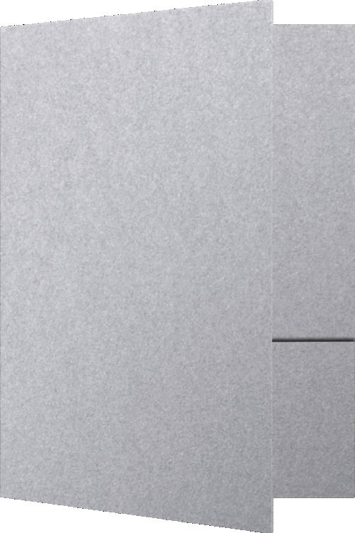 Blank 9 X 12 Presentation Folders Silver Metallic