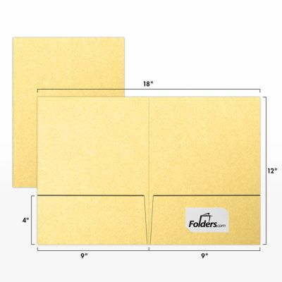 9 x 12 Presentation Folders Gold Metallic