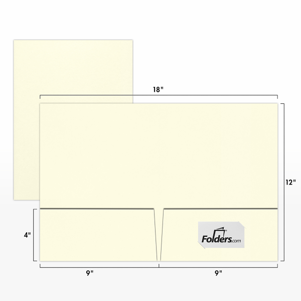 9 x 12 Presentation Folders - Standard Two Pocket Natural