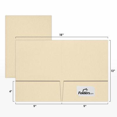 9 x 12 Presentation Folders Natural Linen