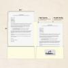 9 x 12 Presentation Folders Natural