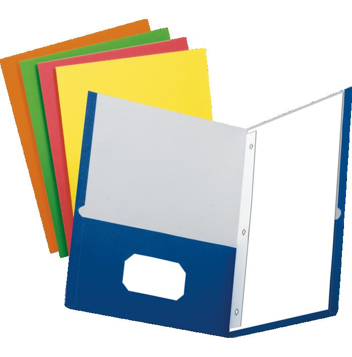 9 x 12 Presentation Folders w/ Brads - Assorted Pack of 100 Assorted
