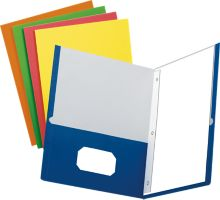 9 x 12 Presentation Folders w/ Brads - Assorted Pack of 100
