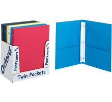 9 x 12 Presentation Folders w/ Brads - Assorted Pack of 50