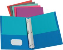 9 x 12 Presentation Folders w/ Brads - Assorted Two Tone Pack of 50