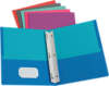 9 x 12 Presentation Folders w/ Brads - Assorted Two Tone Pack of 50 Assorted